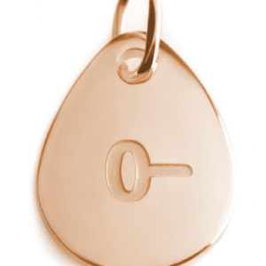 BLOOD TYPE 0-  rose gold pendant