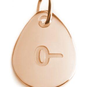 BLOOD TYPE 0-  rose gold pendant