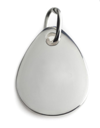 Pure blood drop silver pendant b type jewels lightbox aloadofball Image collections