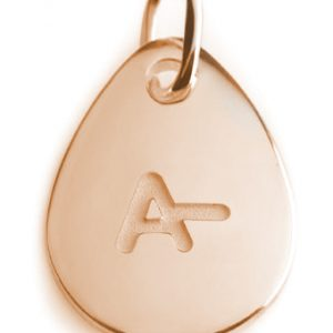 BLOOD TYPE A-  rose gold pendant
