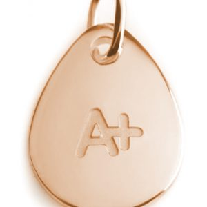 BLOOD TYPE A+  rose gold pendant