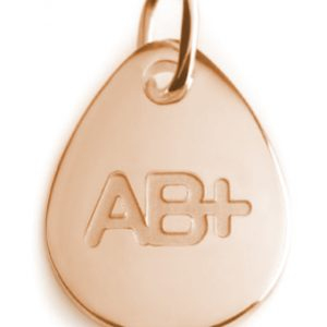 BLOOD TYPE AB+  rose gold pendant