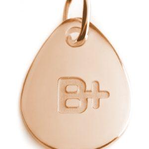 BLOOD TYPE B+  rose gold pendant
